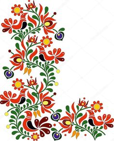 Gyönyörű magyar népművészet Hungarian Embroidery, Folk Embroidery, Embroidery Designs, Folk Art Flowers, Flower Art, Turkey Art, Applique Quilt Patterns, Russian Folk Art, Scandinavian Folk Art
