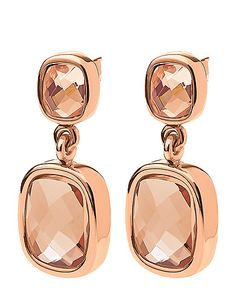 Folli Follie rose gold sparkle earrings! #lordandtaylor