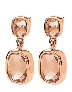 Folli Follie rose gold sparkle earrings! #lordandtaylor