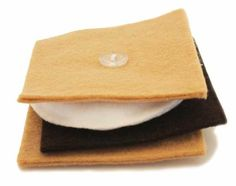 S'mores are the perfect food for playing pretend. These s'mores need to be buttoned together so you can work on you fine motor skills while practicing buttoning Pediatric Occupational Therapy, Pediatric Ot, Motor Activities, Therapy Activities, Therapy Ideas, Activities Of Daily Living, Felt Food, Gross Motor, Perfect Food