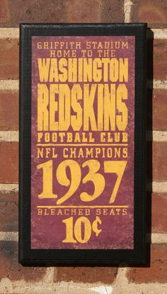 Vintage #Redskins art that would look great in your home!