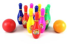 Miniature Indoor Bowling Games - Ultimate Superstar Kids Childrens Standard 12 Piece Toy Bowling Set Comes with 10 Pins 2 Bowling Balls Colors May Vary * More info could be found at the image url.