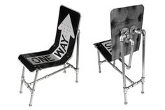 Street Sign Chair