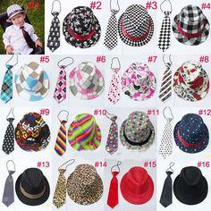 Unisex casual fedora trilby hat with necktie Boys girls fedoras with neck tie set Children top hat Jazz cap