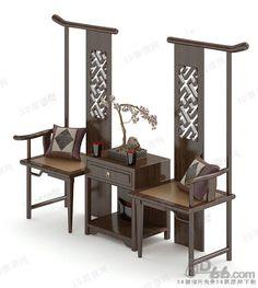 桌椅组合3d模型(189333)