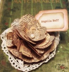 Vintage place card holders with name tag, via Etsy.
