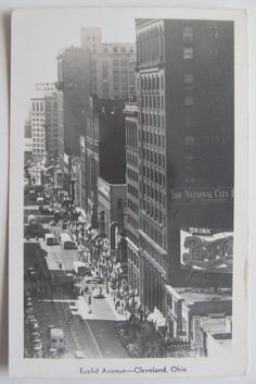 Euclid Avenue, Cleveland, commercial activity on Euclid looking toward Public Square Cleveland Rocks, Cleveland Ohio, My Ohio, The Buckeye State, County Seat, Photo Journal, Old Postcards, Best Location, The Good Old Days