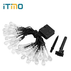 iTimo 20 LED lighting strings Solar Lights Garden Holiday Fairy lights Garland LED Christmas Outdoor Water Drop Shape