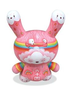 """Happiness is Magical Dunny    Custom Painted Kidrobot 8"""" Dunny    Acrylic on Vinyl"""