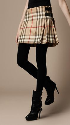 Check Wool Kilt | Burberry