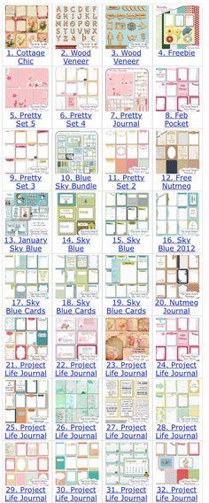 Digi Scrap Delights Project Life Cards
