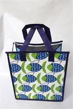Tropical Paper Garden Hot & Cold Reusable Bag School White