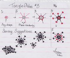 Tangleflake #3~Zentangle