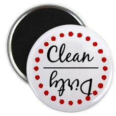 Clean or Dirty Paint Splat Dishwasher Magnet - Red. Lots of other colors and styles. via Etsy.