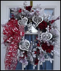 .cute valentine wreath