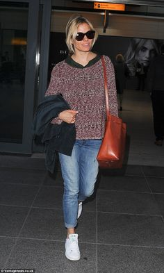Here she is: The actress opted for a comfortable look as she was pictured arriving at Heat...