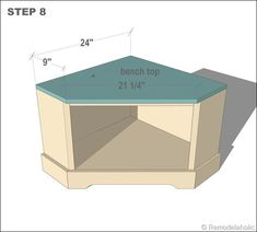 complete plans for building a corner bench with storage to create a mini mudroom at remodelaholic.com