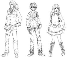 Main Characters from Resonance of Fate