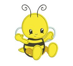 Little Cute Baby Bee Applique macchina ricamo di EmbroideryMonkey