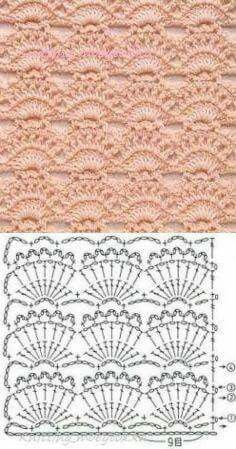 Watch This Video Beauteous Finished Make Crochet Look Like Knitting (the Waistcoat Stitch) Ideas. Amazing Make Crochet Look Like Knitting (the Waistcoat Stitch) Ideas. Crochet Motifs, Crochet Borders, Crochet Diagram, Crochet Stitches Patterns, Crochet Chart, Love Crochet, Crochet Designs, Easy Crochet, Crochet Lace