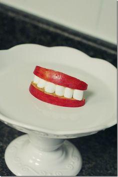 Halloween Teeth Snack  -