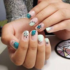 Nice Nails, Fun Nails, Manicure Y Pedicure, Hair And Nails, Nailart, Nail Polish, Make Up, Decor Ideas, Style