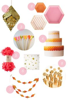 Citrus & Gold Party Supplies