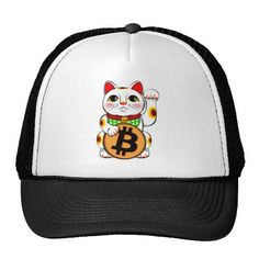 Bitcoin Maneki Neko Lucky Cat 01 Hats. Bitcoin, you can be your own bank. High resolution Bitcoin logo design just for you. Spread the word of Bitcoin, Vires in Numeris, Strength in Number people's choice crypto currency technology.