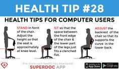 """ Health Tips For Computer Users "" Heath Tips, Daily Health Tips, Online Apps, Healing, Recovery"