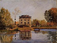 Factory in the Flood, Bougival, 1873, Alfred Sisley Size: 50x65 cm Medium: oil on canvas