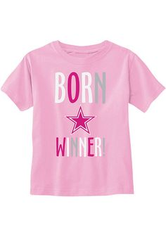 Kids, show support for your favorite team with this Dallas Cowboys Infant Girls Pink Rascal Short Sleeve Tee! Rally House has a great selection of new and exclusive Dallas Cowboys t-shirts, hats, gifts and apparel, in-store and online. Cowboys Gifts, Cowboys Shirt, Infant Girls, Toddler Girl, Cowboy Store, Dallas Cowboys Hats, Cowboy Gear, Short Sleeve Tee, Pink Girl