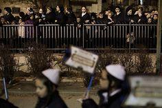 Ultra Orthodox Jews belonging to the Satmar Hasidic group