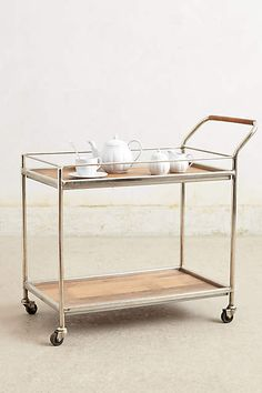Wooden Bar Cart - anthropologie.com- or for chai.