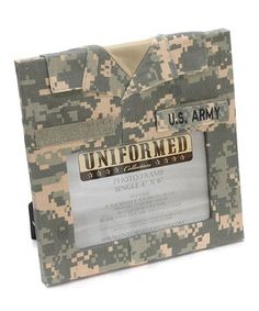 Love this U.S. Army Personalized Single-Photo Frame by Uniformed Scrapbooks on #zulily! #zulilyfinds