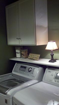 Newly remodeled laundry closet (good to keep in mind, just in case someday I need it)