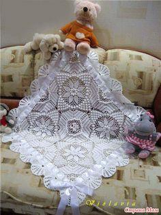 Free Crochet Doily ( Napkin) with Schema