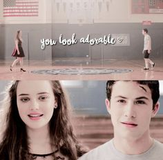 Clay Jensen (Dylan Minnette) and Hannah Baker (Katherine Langford) - 13 Reasons Why