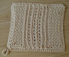 Free Crochet Pattern: Big Girl Potholder/Hot Pad by Laurie Laliberte