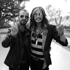 Ringo Starr and Steven Tyler