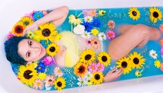 Cosmic Confetti Milk Bath Photo Shoot featuring Mitty! Photo by Anthony Garcia @antoes