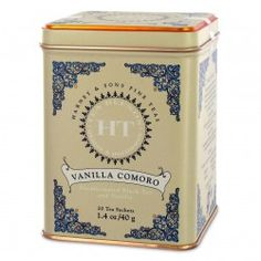 Harney and Sons Tea - Vanilla Comoro.  Caffeine free so it's great for night time but be aware it has a mild flavor compared to it's vanilla.  Like but not in love would not go out of my way to purchase.-WJO