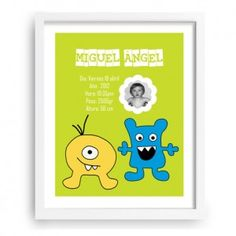 Monstruitos - Cuadros infantiles personalizados - www.babyprint.es