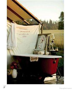 MaryJane's Outpost - Outdoor (propane) bathtub