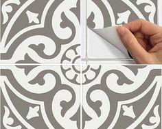 Tile Sticker for Kitchen, bath, floor, wall Waterproof & Removable Peel n Stick: W006Q