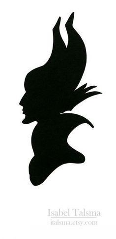 Evil queen silhouette. Perfect stencil to use for a pumpkin carving.