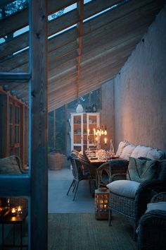 Stämningsfull glasveranda | ELLE Decoration