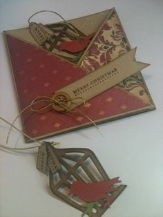 Bird Cage ornament and card