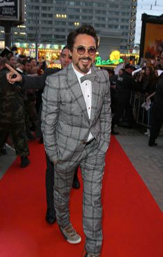 Robert Downey Jr. #suits up in checkered Vivienne Westwood