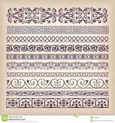 Vector Set Vintage Ornate Border Frame With Retro Ornament Patte - Download From Over 27 Million High Quality Stock Photos, Images, Vectors. Sign up for FREE today. Image: 43768685