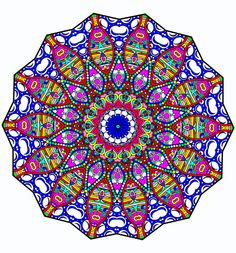 """Beautiful One of a Kind Handmade """"Bubbles Kaleidoscope"""" Mandala Window Decal Cling 8.5""""x 8.5"""" Sun catcher Designed and Created By Kat"""